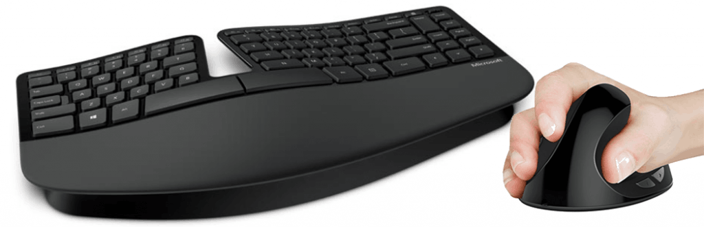 Good Ergonomics- A ergonomic keyboard and mouse