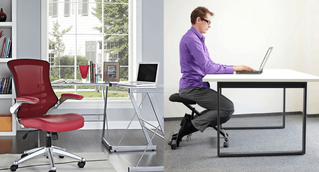 Switch Between Office Chair versus and a Kneeling Chair