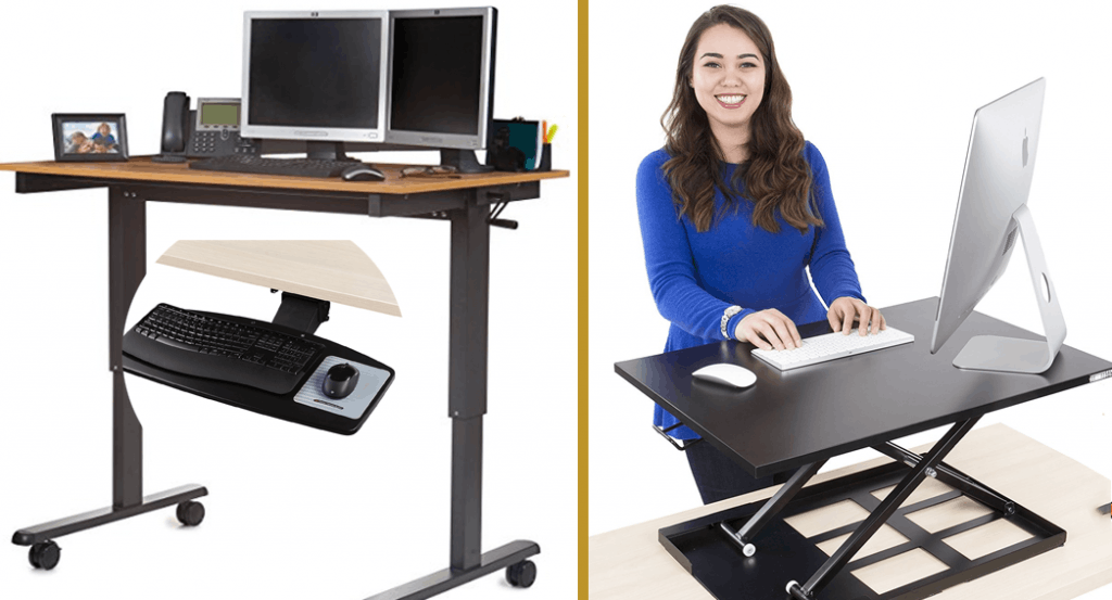 Good Ergonomic Choices- Adjustable Height Desks, Desk Risers, and Keyboard Trays